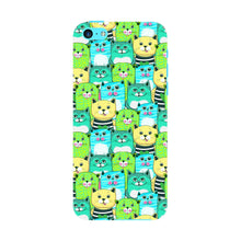 Green, Yellow, & Blue Funny Cats Phone Case iPhone 5C case