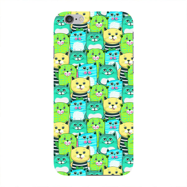 Green, Yellow, & Blue Funny Cats Phone Case iPhone 6 case