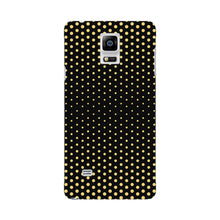 Halftone Gold Dots Phone Case Samsung Galaxy Note 4 case