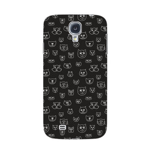 Hand Drawn Cat Faces Phone Case Samsung Galaxy S4 case