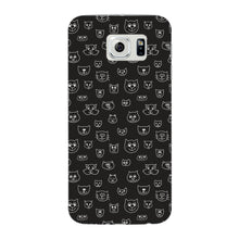 Hand Drawn Cat Faces Phone Case Samsung Galaxy S6 Edge case