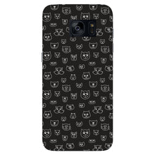 Hand Drawn Cat Faces Phone Case Samsung Galaxy S7 Edge case