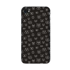 Hand Drawn Cat Faces Phone Case iPhone 4S case