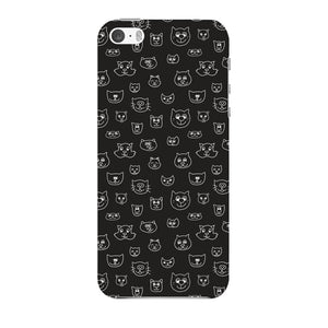 Hand Drawn Cat Faces Phone Case iPhone 5 case
