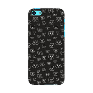 Hand Drawn Cat Faces Phone Case iPhone 5C case