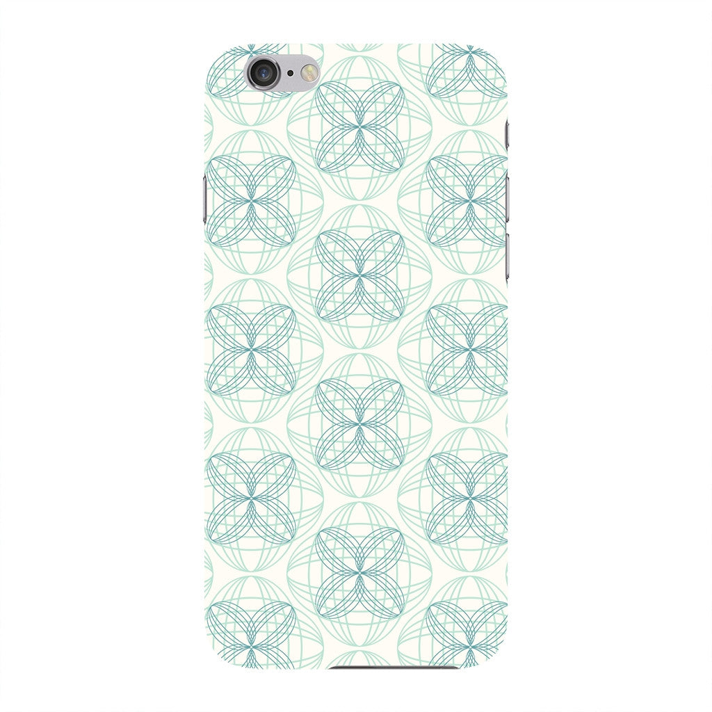 Light Green & Blue Circles Phone Case iPhone 6 case