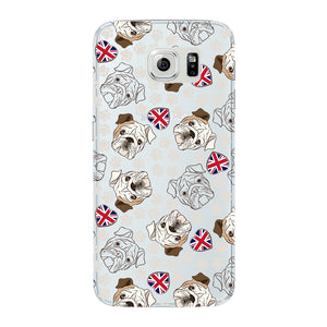 Loving English Bulldogs Phone Case Samsung Galaxy S6 Edge case