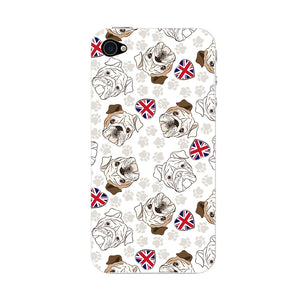 Loving English Bulldogs Phone Case iPhone 4S case