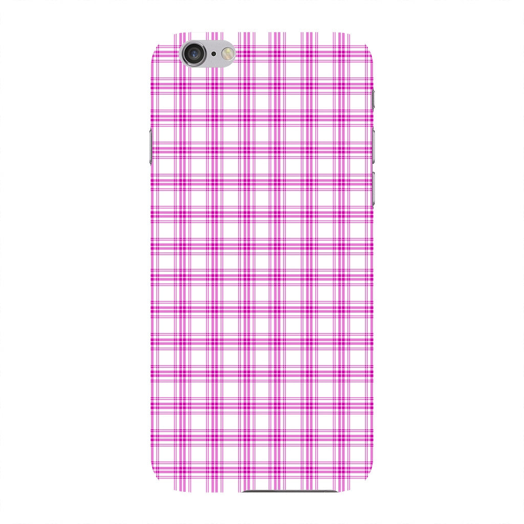 Pink Tartan Fabric Phone Case iPhone 6 case