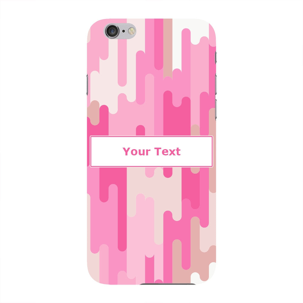 Pink White Vertical Lines iPhone 6 case