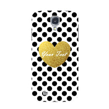 Polka Dots Golden Heart Custom Case Samsung Galaxy S4 case