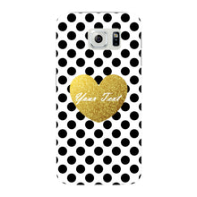 Polka Dots Golden Heart Custom Case Samsung Galaxy S6 Edge case