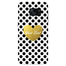 Polka Dots Golden Heart Custom Case Samsung Galaxy S7 Edge case