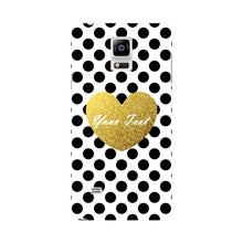 Polka Dots Golden Heart Custom Case Samsung Galaxy Note 4 case