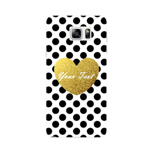 Polka Dots Golden Heart Custom Case Samsung Galaxy Note 5 case
