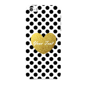 Polka Dots Golden Heart Custom Case iPhone 5 case