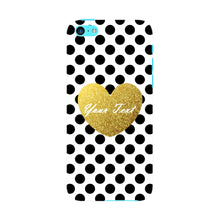 Polka Dots Golden Heart Custom Case iPhone 5C case