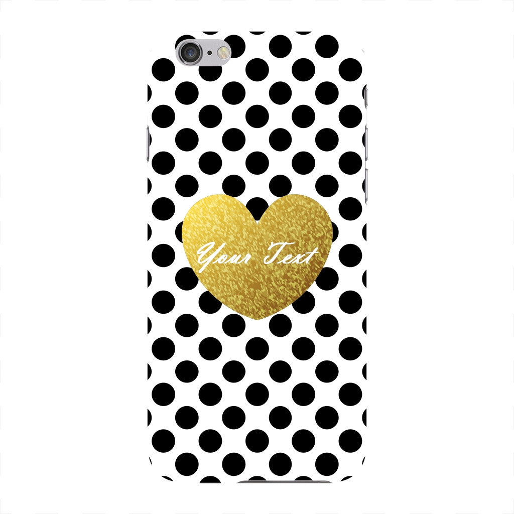 Polka Dots Golden Heart Custom Case iPhone 6 case