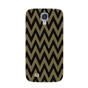 Printed Gold Chevron Glitter Phone Case Samsung Galaxy S4 case