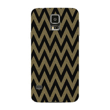 Printed Gold Chevron Glitter Phone Case Samsung Galaxy S5 case