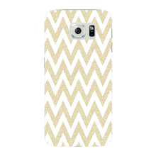Printed Gold Chevron Glitter Phone Case Samsung Galaxy S6 Edge case