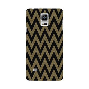 Printed Gold Chevron Glitter Phone Case Samsung Galaxy Note 4 case