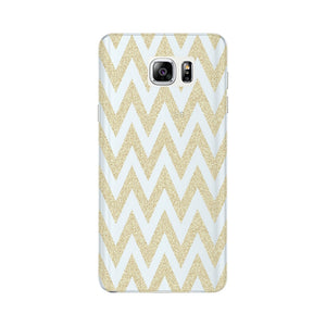 Printed Gold Chevron Glitter Phone Case Samsung Galaxy Note 5 case
