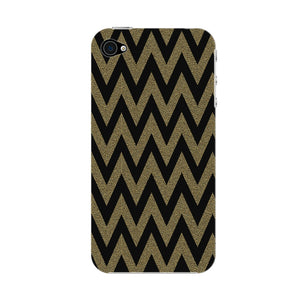Printed Gold Chevron Glitter Phone Case iPhone 4S case