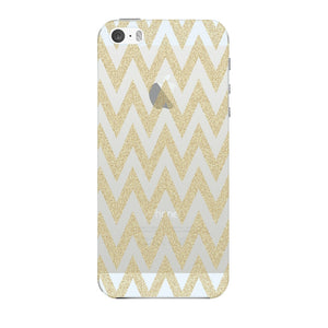 Printed Gold Chevron Glitter Phone Case iPhone 5 case