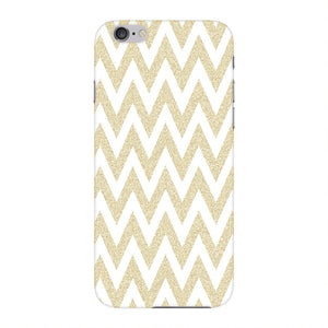 Printed Gold Chevron Glitter Phone Case iPhone 6 case