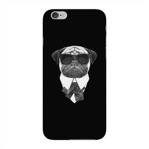 Pug In Black Phone Case iPhone 6 case