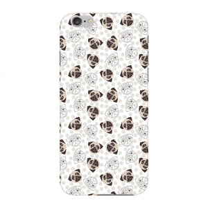 Pugs Paws Pattern Phone Case iPhone 6 case