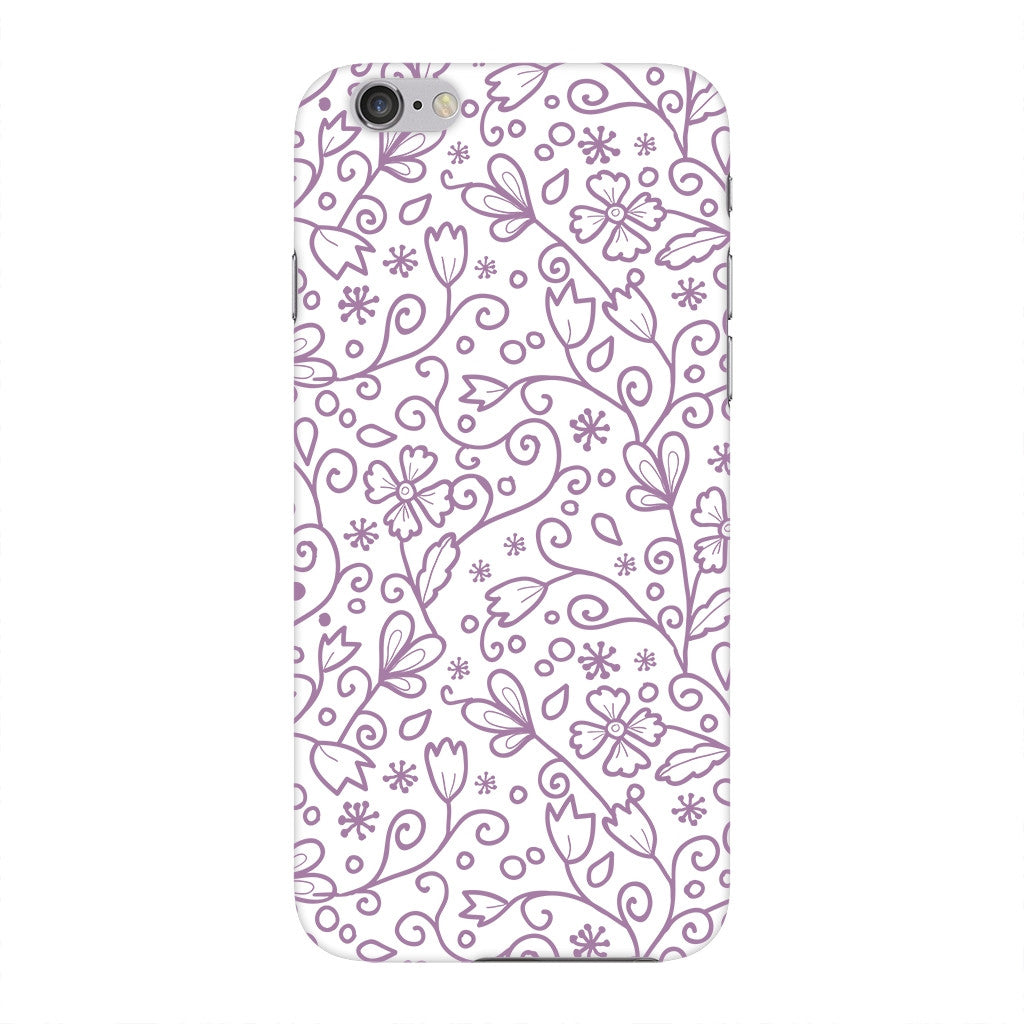 Purple Floral Outline Phone Case iPhone 6 case