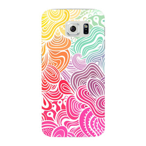 Rainbow Swirls Samsung Galaxy S6 Edge case