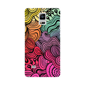 Rainbow Swirls Samsung Galaxy Note 4 case