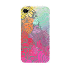 Rainbow Swirls iPhone 4S case