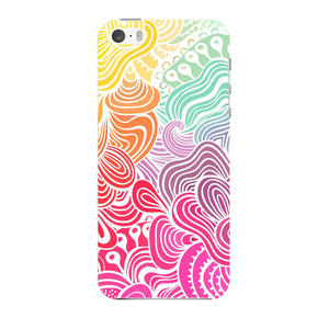 Rainbow Swirls iPhone 5 case