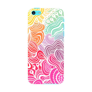 Rainbow Swirls iPhone 5C case