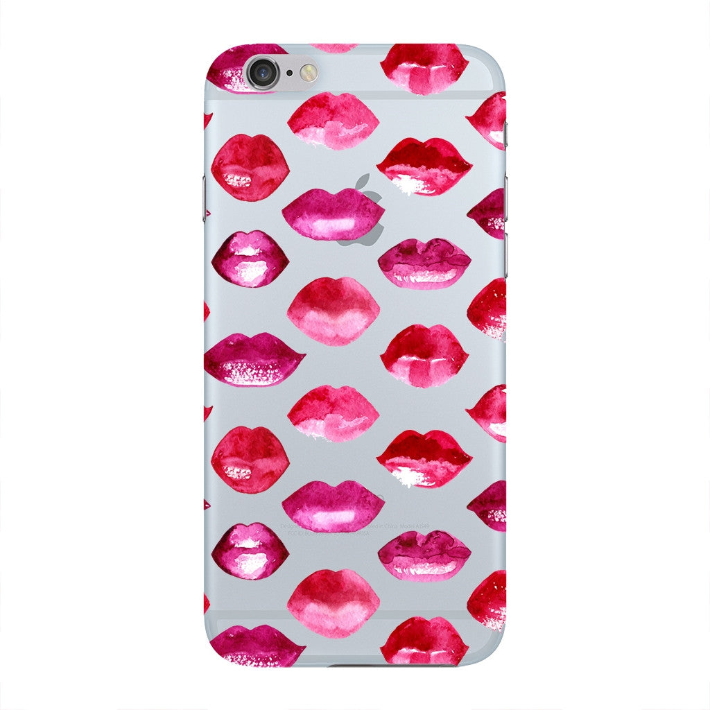 uk availability 84322 4d545 Red Pink Lips Phone Case