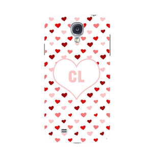 Red & Pink Hearts Initials Custom Phone Case Samsung Galaxy S4 case