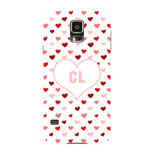 Red & Pink Hearts Initials Custom Phone Case Samsung Galaxy S5 case