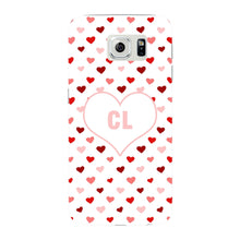Red & Pink Hearts Initials Custom Phone Case Samsung Galaxy S6 Edge case