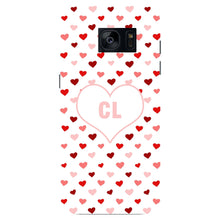 Red & Pink Hearts Initials Custom Phone Case Samsung Galaxy S7 Edge case