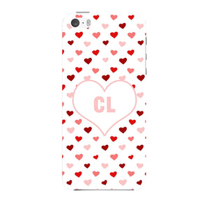 Red & Pink Hearts Initials Custom Phone Case iPhone 5 case