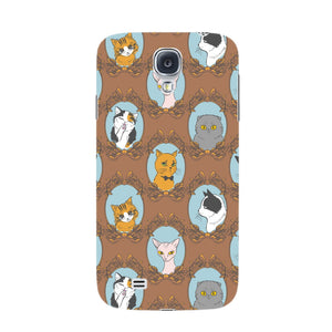 Retro Cats Phone Case Samsung Galaxy S4 case