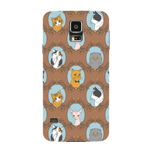 Retro Cats Phone Case Samsung Galaxy S5 case