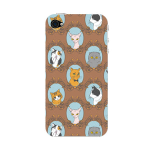 Retro Cats Phone Case iPhone 4S case