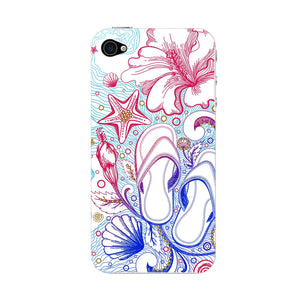 Sketched Vacation Phone Case iPhone 4S case