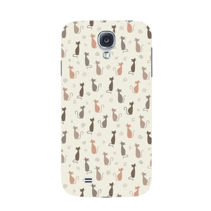 Stylish Cats Pattern Phone Case Samsung Galaxy S4 case
