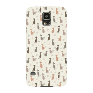 Stylish Cats Pattern Phone Case Samsung Galaxy S5 case